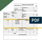 Orden de Produccion Pp
