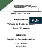 Informe Proyecto Dieño Electronico Vumetro