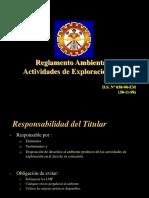 Reglamento Ambiental Para Las Actividades de Exploración Minera