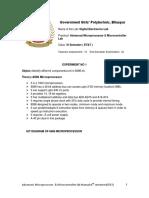 Advanced Microprocessor & Microcontroller Lab Manual - Good