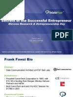 Frank Fawzi Presents The Secrets of the Successful Entrepreneur