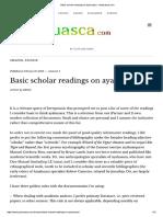 Basic Scholar References on Ayahuasca