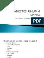 Anestesi Umum _ Spinal