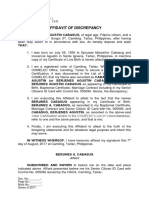 Affidavit of Discrepancy - Cabasug (First Name)