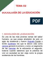 Tema o2 Sociologia de La Educacion