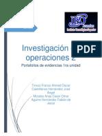 PORTAFOLIO INVESTIGACION DE OPERACIONES II