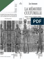 Assman Jean Mémoire Culturelle