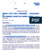 People vs. Valdez Designation of Offense