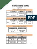 Horario II Trimestre 17, CLM, Dipl y LP