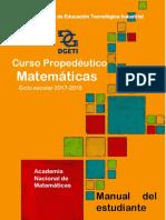 Curso Propedeutico Matematicas  Estudiante