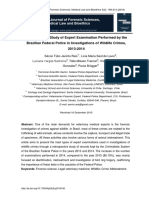 Retrospective Study of Expert Examination Performed by the Brazilian Federal Police in Investigations of Wildlife Crimes 2013 2014.