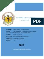 Informe - Ley de Cierre de Minas