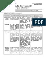 Rúbrica Texto informativo