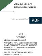 Lied e Ópera Ate Metade Do Séc XIX
