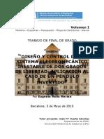 DISEÑO Y CONTROL DE UN SISTEMA ELECTROMECÁNICO INESTABLE DE DOS GRADOS DE LIBERTAD