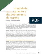 BOTTENE, Sandro - Descontinuidade, Deslocamento e Desdobramento Do Espaço