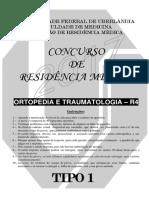 Prova Ortopedia - R4 - Tipo 1 - 2017