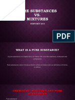 notes - mixtures and pure substances