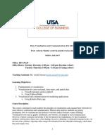 Syllabus - Data Visualization and Communication