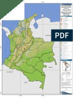 Mapa de cobertura de la tierra - Colombia (2000 - 2002)