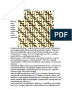 Filosofi Batik Parang Rusak