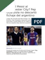 6. Lionel Messi Al Manchester City y Otras Noticias Deportivas