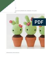 Baby Cactus pattern amigurumi