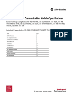 1756 ControlLogix Communication Modules Specifications