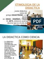 Etimologia de La Didactica
