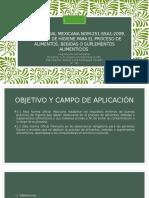 Norma Oficial Mexicana Nom-251-Ssa1-2009, Practicas de Higiene