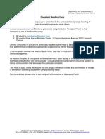 Iq Option Complaints Handling Form