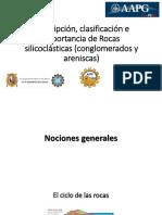 Descripción de Rocas Silicoclásticas (Conglomerados y Areniscas)