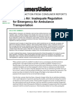 Up in the Air Inadequate Regulation for Emergency Air Ambulance Transportation