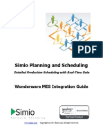 Simio Production Scheduling Wonder War Emes Interface