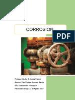 Corrosion en la industria Petrolera
