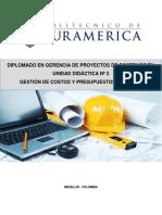 UNIDAD DIDÁCTICA 2 GESTIÓN DE COSTOS Y PRESUPUESTOS EN CONSTRUCCIÓN