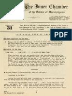 a1935 Dingle Institute of Mentalphysics Inner Chamber Lessons