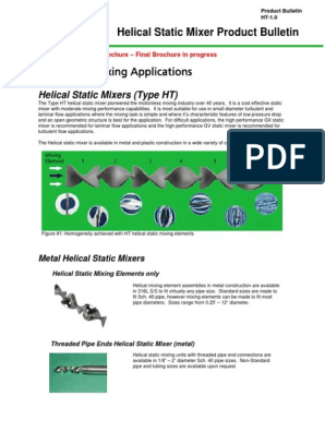 PDF-12 0) Helical Static Mixer Technical Bulletin | Pipe