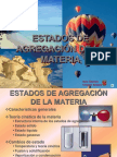 ESTADOS DE AGREGACION DE LA MATERIA.ppt