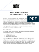 Antivirus and Defrag White Paper ITPapers