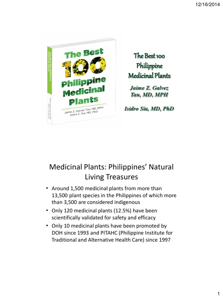 The Best 100 Philippine Medicinal Plants pdf
