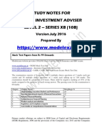 Investment Adviser XB Level 2 Exam Study Material Notes