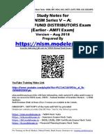 NISM Series VA Mutual Fund Distributors Exam Study Notes