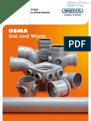 6S085 Wavin//OSMA 160mm Suspended Pipe /& Socket Brkt