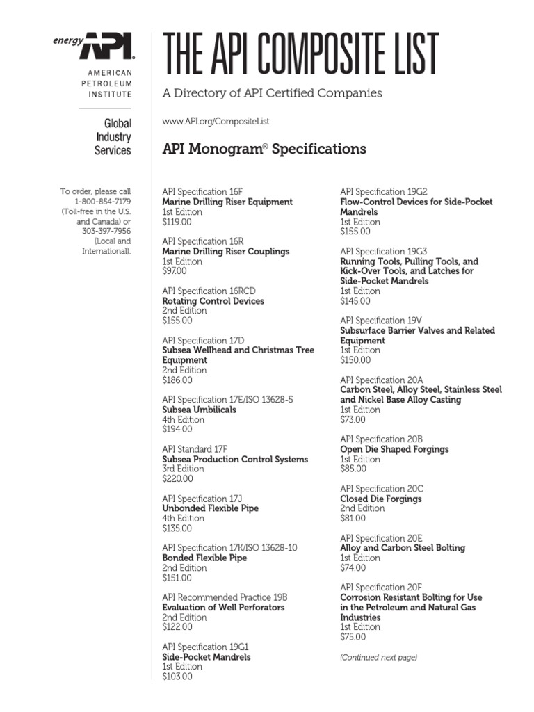 API SPEC 16R PDF