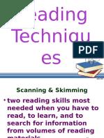 Reading Techniques