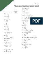 FormulaSheet for Monash CHE2164