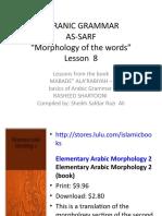 Sarf Lesson 08