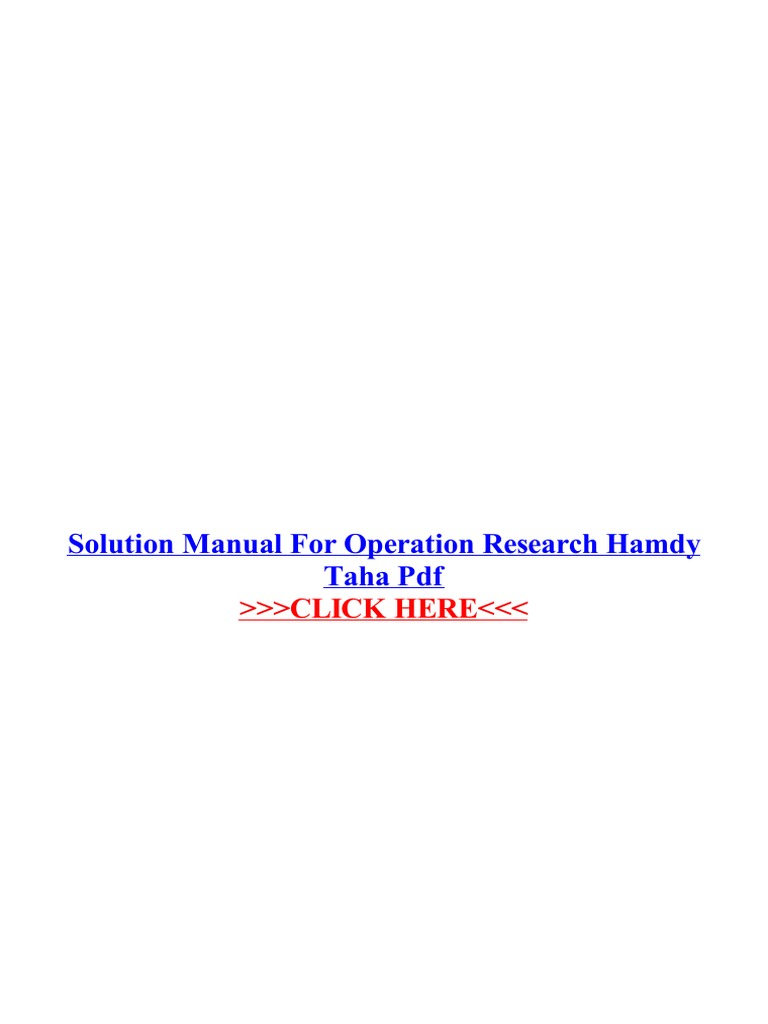 Solution manual for operation research hamdy taha pdf portable solution manual for operation research hamdy taha pdf portable document format areas of computer science fandeluxe Choice Image