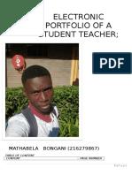 Mathabela b Electronic Portfolio